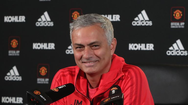 Jose Mourinho was speaks to the media ahead of Manchester United's game against Bournemouth