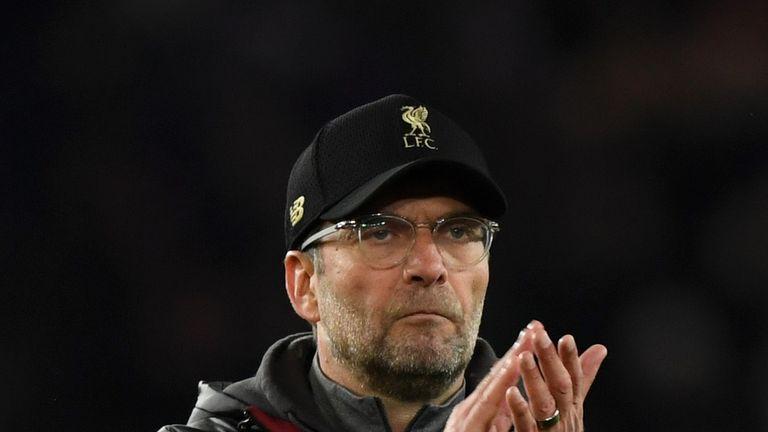 Liverpool manage Jurgen Klopp v PSG