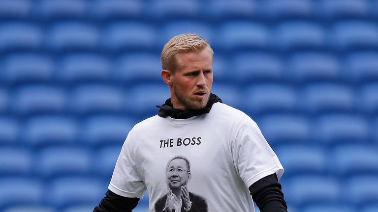 Leicester players wore tribute T-shirts during their warm-up at Cardiff