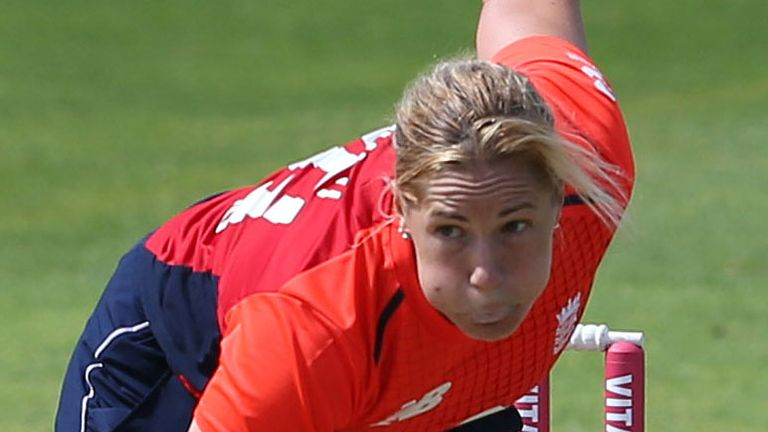 England Women's Katherine Brunt has taken 61 wickets in 65 T20is