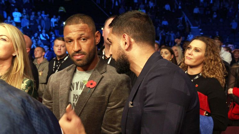 Brook and Khan met ringside at the Usyk-Bellew clash in November