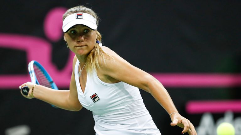 Kenin was making her Fed Cup debut in the final