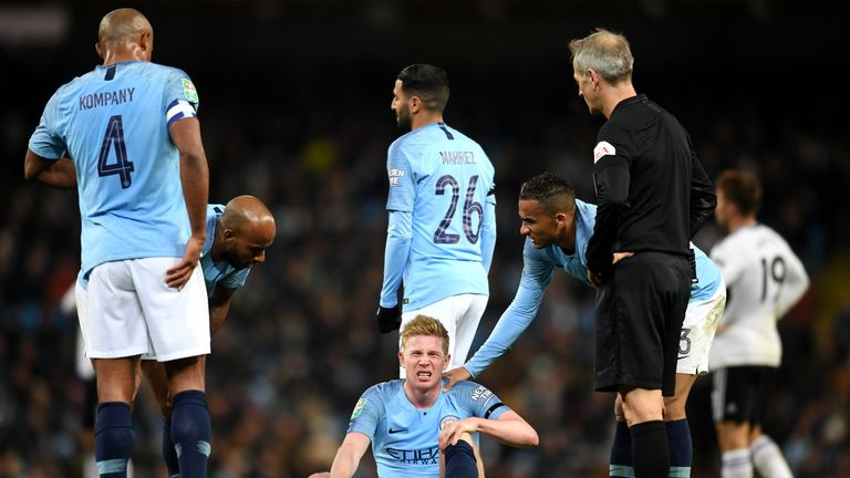 Kevin De Bruyne has hardly featured for City this season