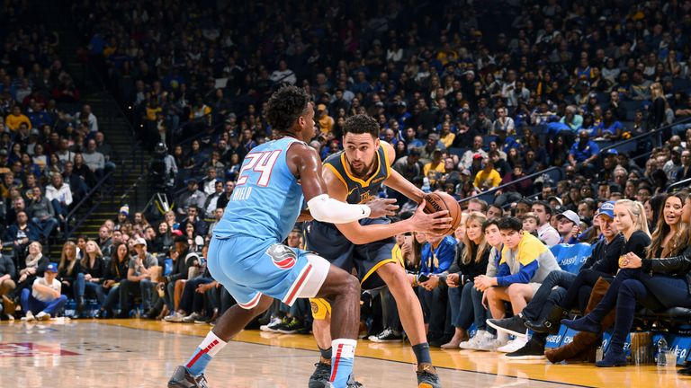 Klay Thompson's 31 points help Golden State Warriors beat Sacramento Kings by one   NBA News  
