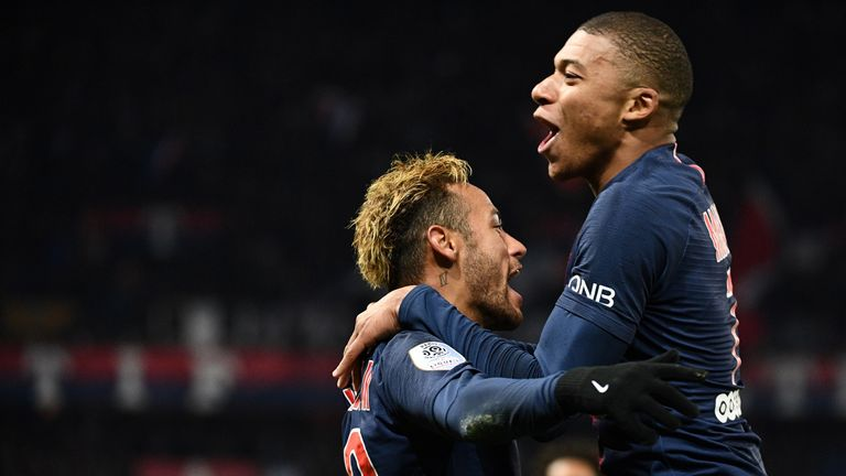 Neymar and Kylian Mbappe both scored for PSG