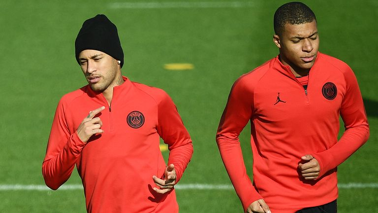 Neymar and Kylian Mbappe look set to feature against Liverpool