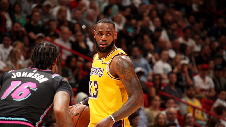 LeBron James scored more than 50 points in a game for the 12th time in his NBA career