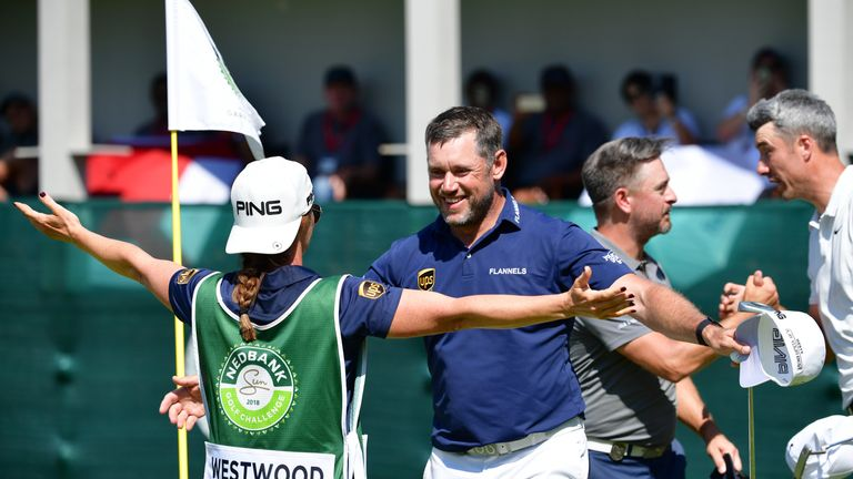 Storey was caddying for Westwood when he won in South Africa in November