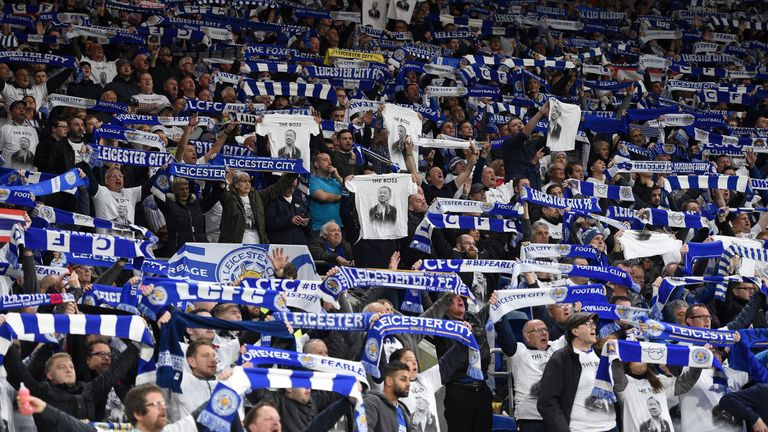 The Leicester fans wore shirts in support for the Srivaddhanaprabha family