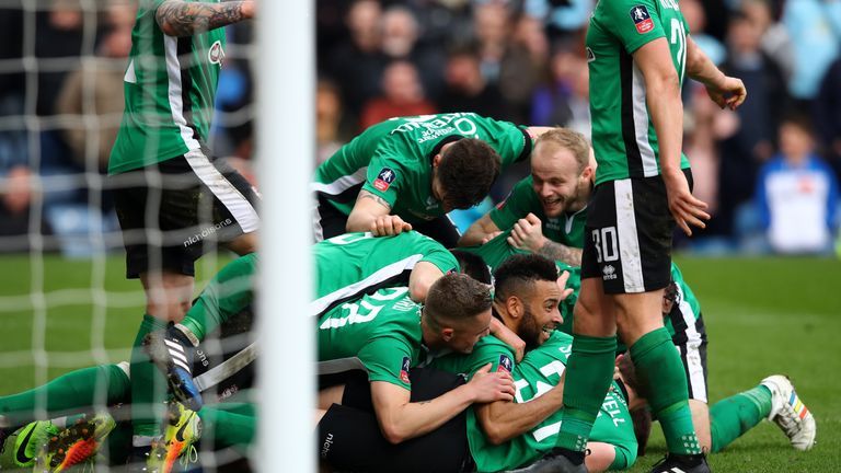 Lincoln recorded a famous FA Cup win over Burnley a couple of seasons ago