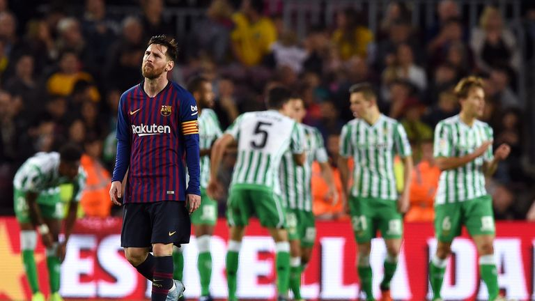 Lionel Messi returned to action, but Barcelona lost to Real Betis