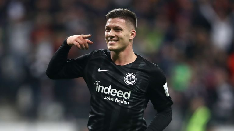 Luka Jovic  has scored 20 goals in 37 Bundesliga games for Eintracht Frankfurt on loan from Benfica