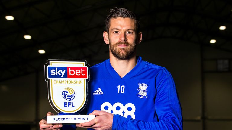 Lukas Jutkiewicz won the Sky Bet Championship Player of the Month award for October
