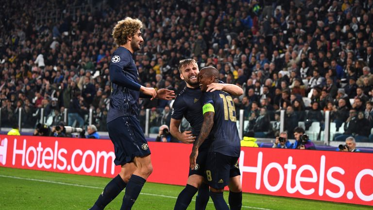 during the UEFA Champions League Group H match between Juventus and Manchester United at Juventus Stadium on November 7, 2018 in Turin, Italy.
