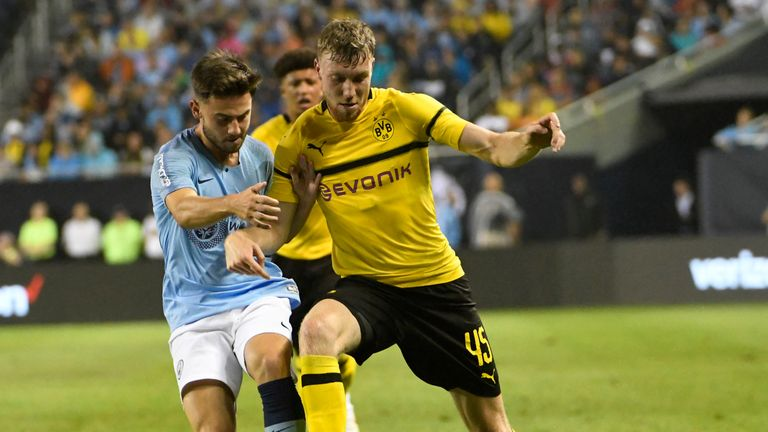 CHICAGO, IL - JULY 20: on July 20, 2018 at Soldier Field  in Chicago, Illinois. Borussia Dortmund won 1-0. (Photo by David Banks/Getty Images) *** Local Caption ***.