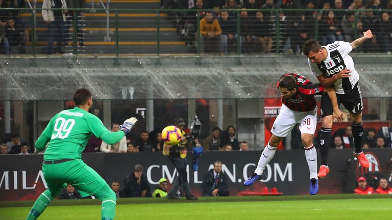 Mario Mandzukic nets his fifth goal from nine Serie A starts this season