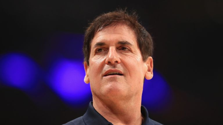 Dallas Mavericks owner Mark Cuban during the game against the Los Angeles Lakers at the Staples Center
