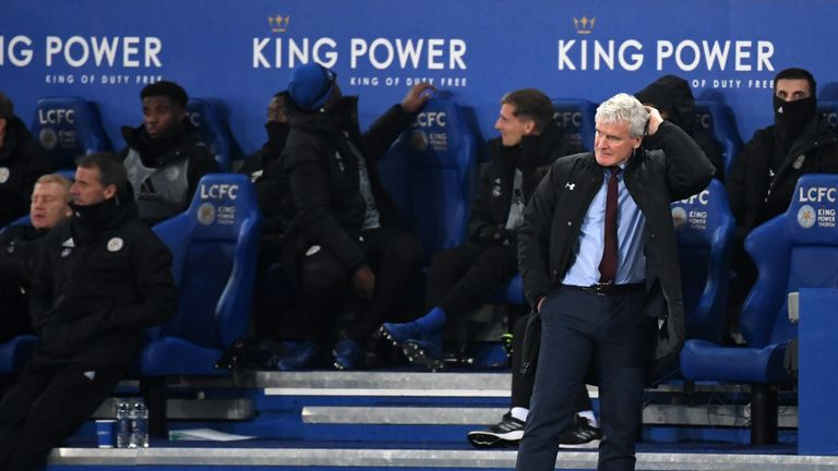 Mark Hughes was frustrated at the King Power Stadium