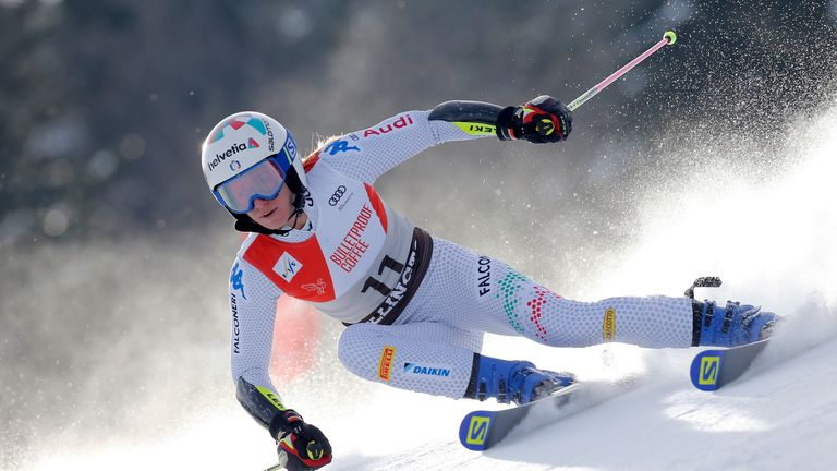 Marta Bassino in full fight on the American slopes at the weekend