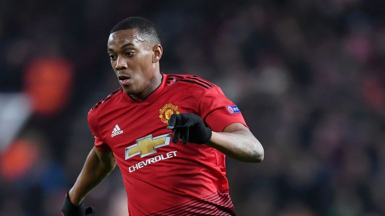 Anthony Martial has not played since suffering a groin strain against Paris Saint-Germain in February