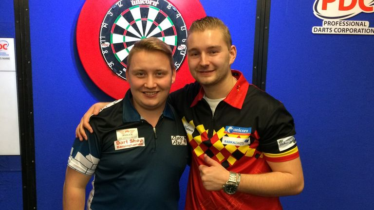Dimitri van den Bergh and Martin Schindler will contest this year's World Youth Championship Final