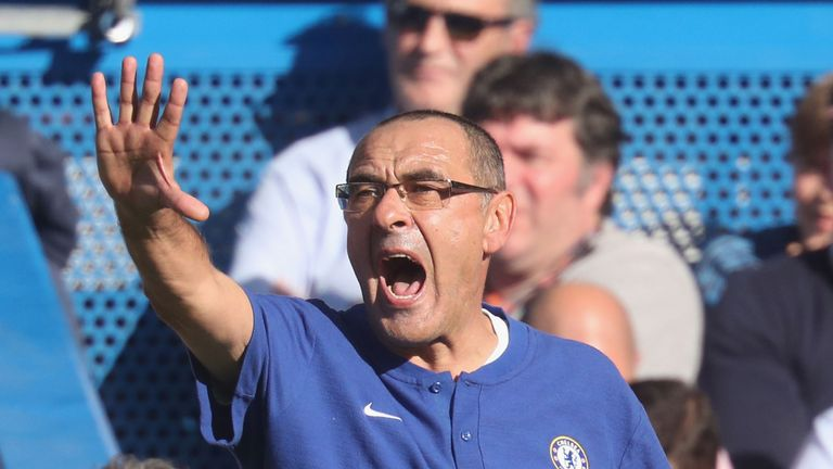 Maurizio Sarri's Chelsea were the first team to beat Man City in the league