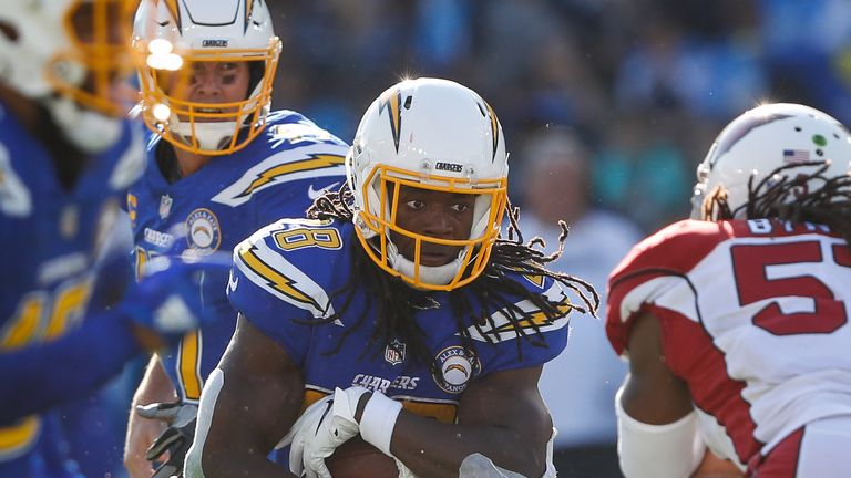 Running back Melvin Gordon is missing for the Chargers as they face the Steelers