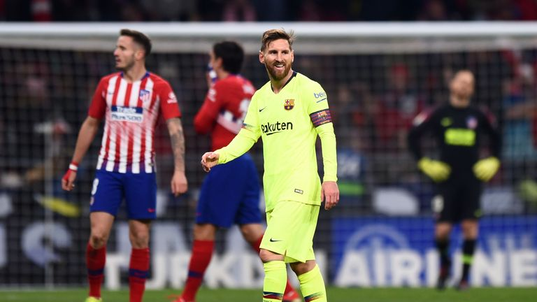 Lionel Messi had a testing night against Atletico
