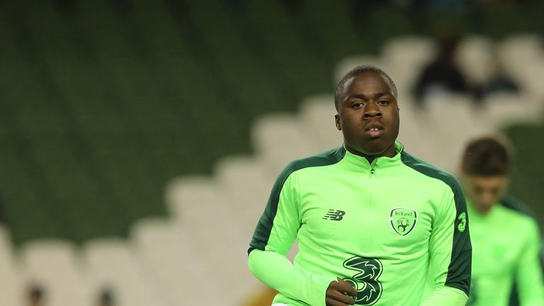 18-year-old Michael Obafemi earned his first Republic of Ireland cap during the Nations League
