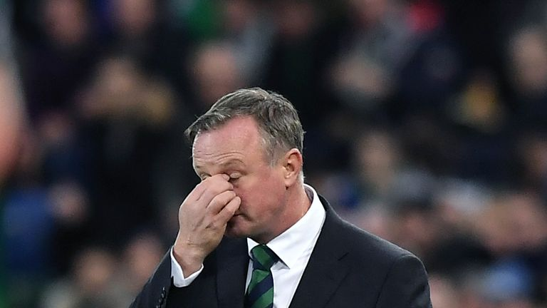 Northern Ireland cut a disappointed figure on the touchline