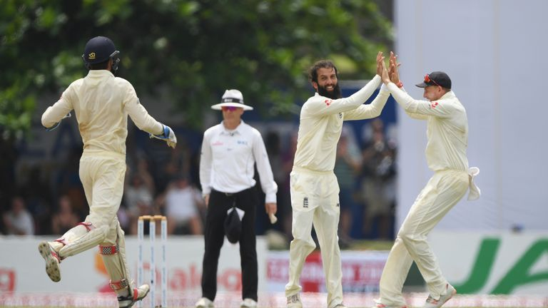 Moeen Ali took 4-66 as Sri Lanka were bundled out for 203
