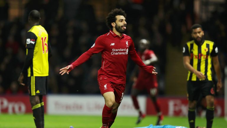 Mohamed Salah netted Liverpool's first against Watford last weekend