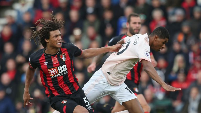 during the Premier League match between AFC Bournemouth and Manchester United at Vitality Stadium on November 3, 2018 in Bournemouth, United Kingdom.