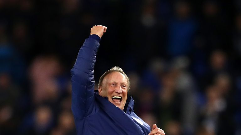 Neil Warnock during the Premier League match between Cardiff City and Wolverhampton Wanderers at Cardiff City Stadium on November 30, 2018 in Cardiff, United Kingdom.