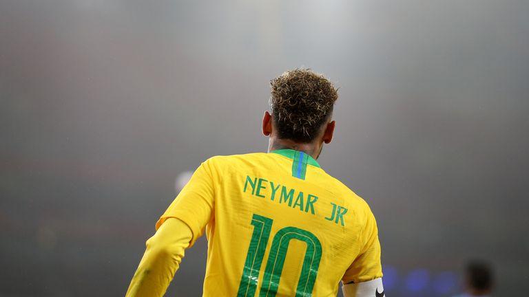 Brazil's Neymar during the International Friendly match at the Emirates Stadium, London