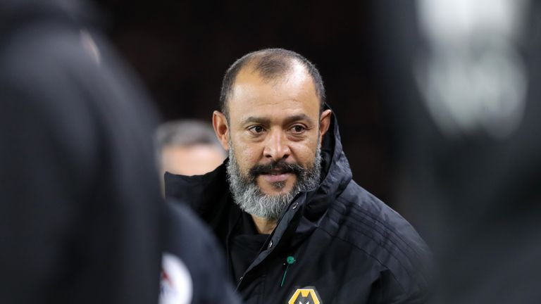 Nuno Espirito Santo confirmed Wolves would reward players with a financial bonus if they finish the season top of the Premier League