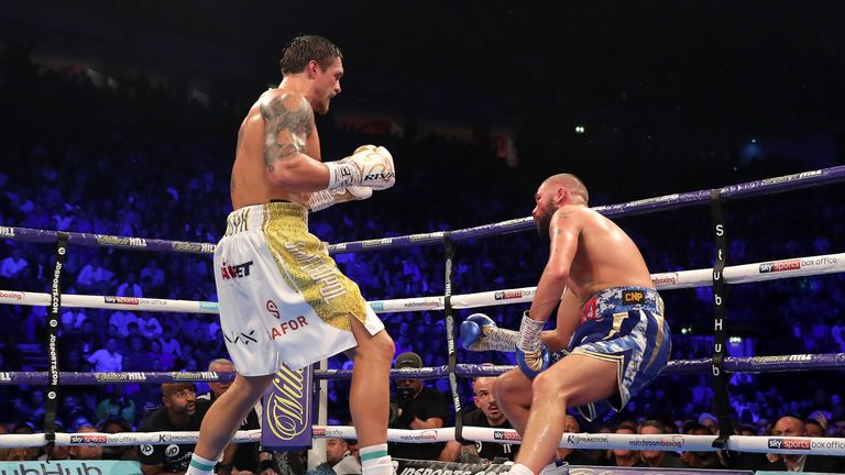 The Ukrainian stopped Bellew with a big left hand in the eighth round