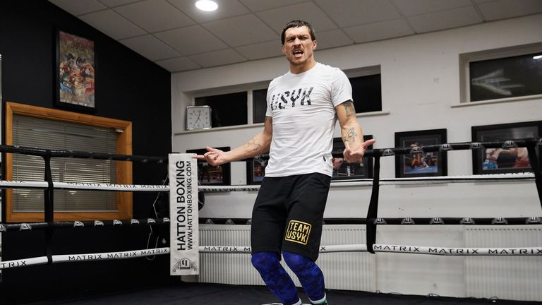 Oleksandr Usyk will be working out in front of the public from 6.25pm