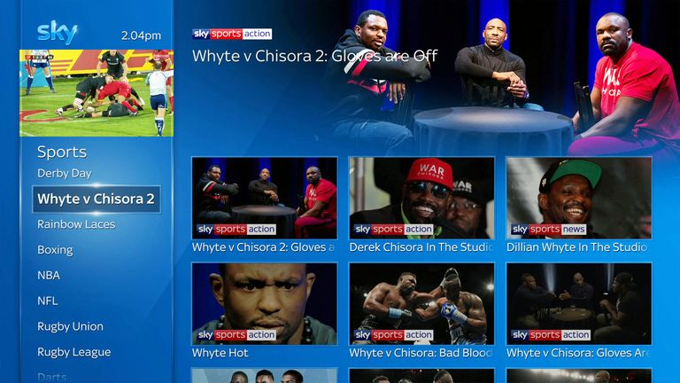 Catch our exclusive shows and interviews featuring the heavyweight rivals On Demand