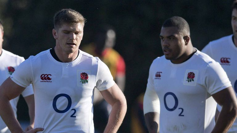 Owen Farrell (left) and Kyle Sinckler were impressive for England this autumn