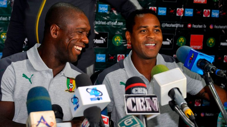 Patrick Kluivert is working as Seedorf's assistant