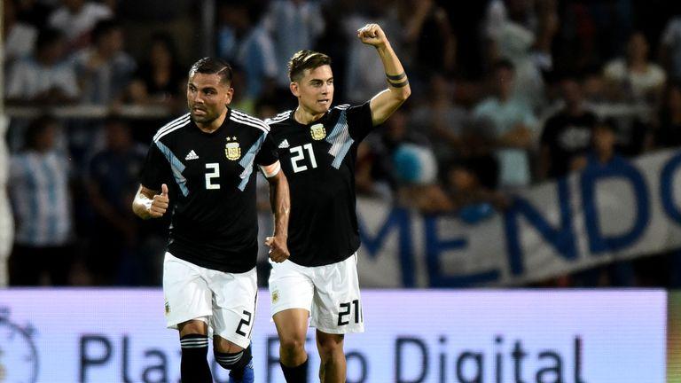 Paulo Dybala Argentina v Mexico