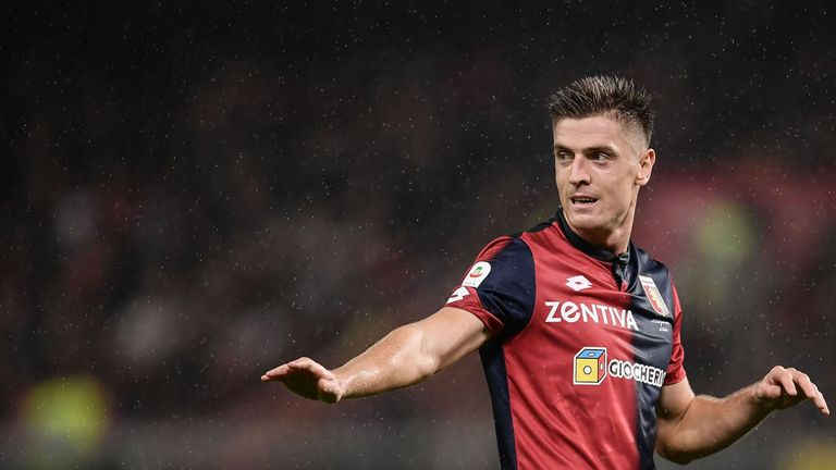 Genoa striker, Krzysztof Piatek, has put on high European clubs on red