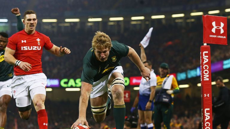 Pieter-Steph du Toit thought he had given South Africa the lead as early as the fourth minute