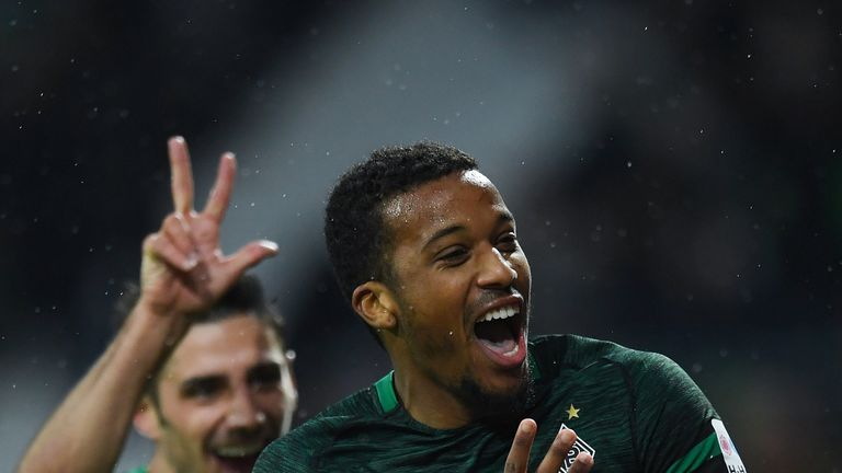Borussia Mochengladbach striker Alassane Plea was on target