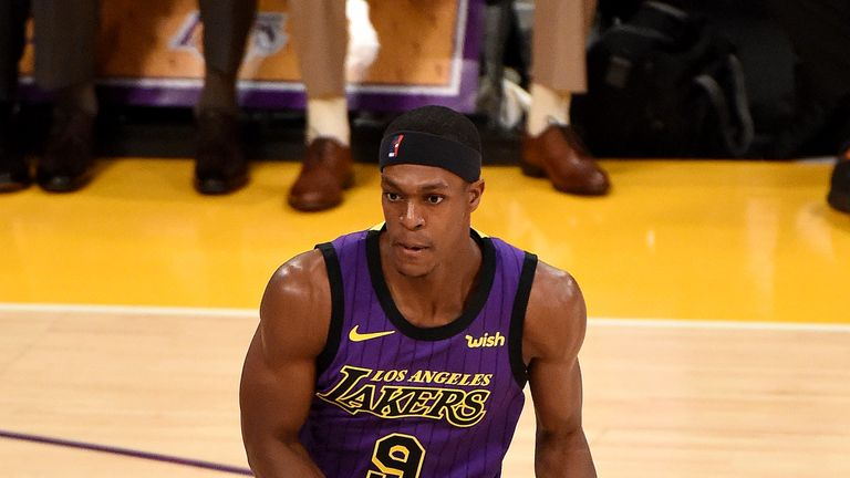 Rajon Rondo injured his hand playing against the Portland Trail Blazers