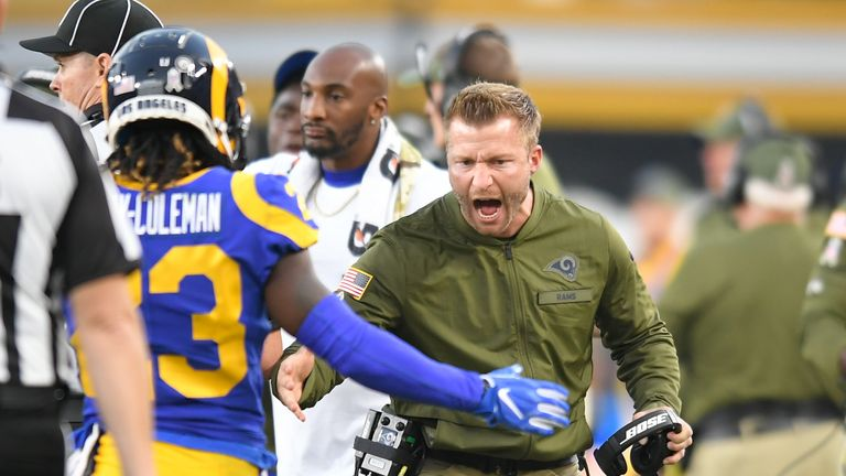 Head coach Sean McVay will not settle for a first-round exit this season