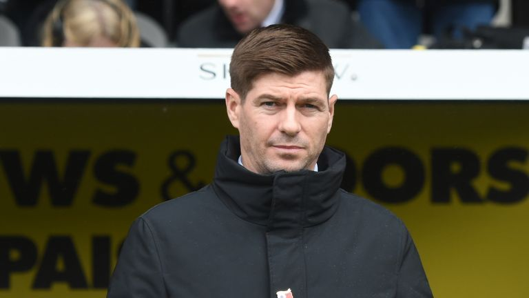 Steven Gerrard is five months into his first management role at Rangers