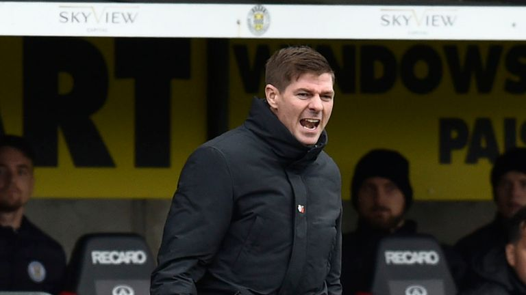 Steven Gerrard saw his side Rangers side beat St Mirren