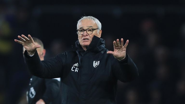 Claudio Ranieri helped lift Fulham off the bottom of the Premier League